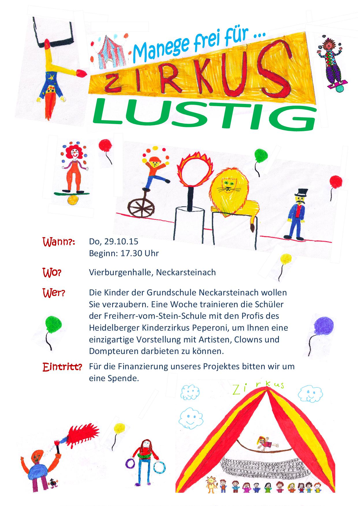Plakat Zirkus neu